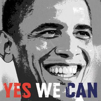 Barack Obama - Yes We Can Photo (12 x 12in) Art Print