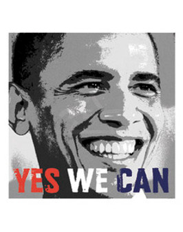 Barack Obama - Yes We Can Photo (10 x 10in) Art Print
