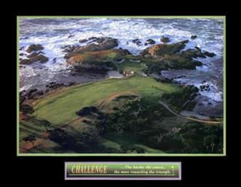 Challenge - Golf Art Poster