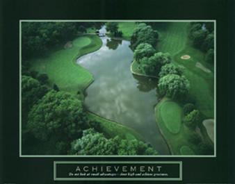 Achievement - Golf Course Art Poster