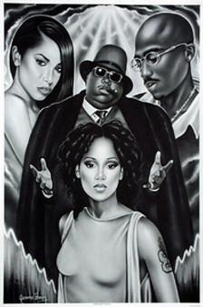 Guiding Lights of Hip-Hop (B&W) Art Print - Jerome Brown