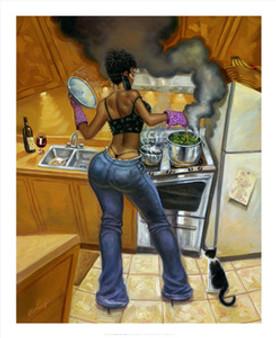 Lookin' Good Cookin' Art Print (8 x 10in) - Sterling Brown