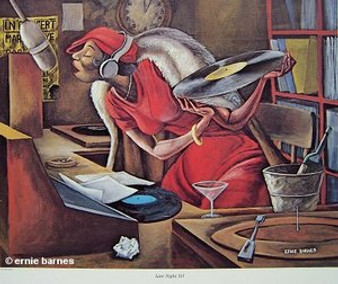 Late Night DJ Art Print - Ernie Barnes