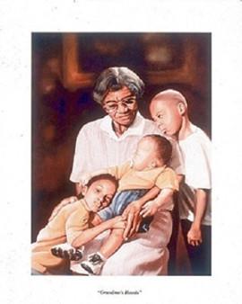 Grandma's Hands Art Print - Tim Hinton