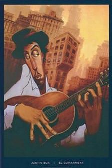 El Guitarrista Art Print - Justin Bua