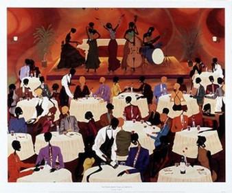No Man's Band Bops At Mintons Art Print - Leroy Campbell