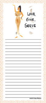 Love, Give, Serve Note Pad