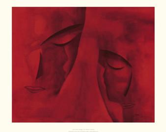 Les Deux Visages (15.7 x 19.7in) Art Print - Patrick Ciranna