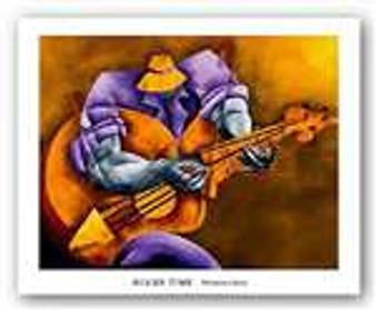 Blues Time (8 x 10) Art Print - Philemon Reid