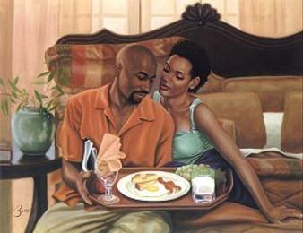 Breakfast in Bed (12x16)Art Print - Henry Lee Battle
