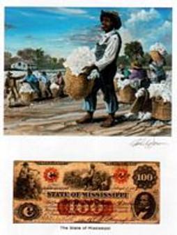 Color of Money - Slave Picking Cotton: Mississippi Art Print - John Jones