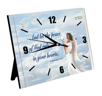 Colossians 3:15 Wall Clock