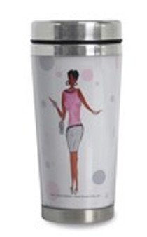 Dream It, Think It, Work It, Achieve It African American Travel Mug--Cidne Wallace