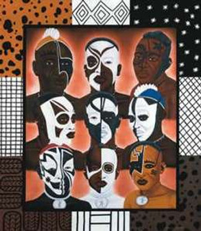 The Afrikans Art Print - Charles Elston