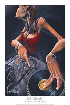 DJ Jewel (24 x 36) Art Print - David Garibaldi