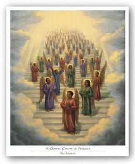 Gospel Choir of Angels art print by Tim Ashkar
