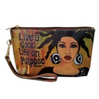 Live A Good Life On Purpose Cosmetic Pouches