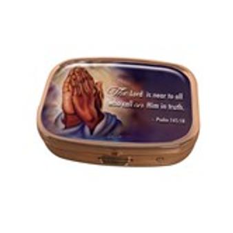 Praying Hands Pill Box Case--Twin Hicks