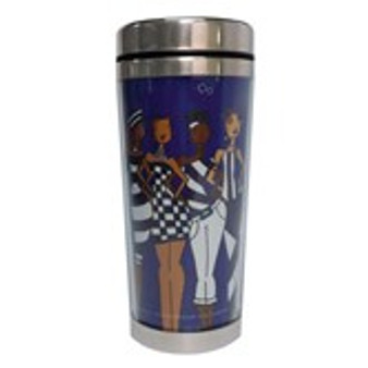 Blue-It's A Soror Thang! Travel Mug--Kiwi McDowell