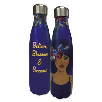 "Believe, Blossom and Become Stainless Steel Bottles--	Sylvia ""GBaby"" Cohen"