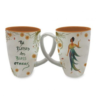 Be Blessed and Bless Others Cidne Wallace, Mugs, Latte Mugs
