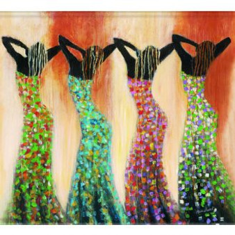 Dance of the Summer Solstice Memory Foam Floor Mat --Monica Stewart
