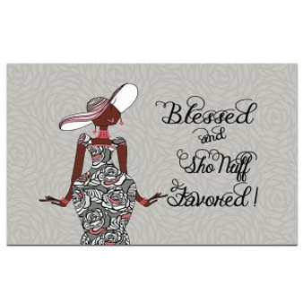 Blessed and Sho Nuff Favored Interior Floor Mats --Kiwi McDowell