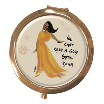 You Can't Keep A Good Sistah Down Magnifying Compact Mirrors--Cidne Wallace