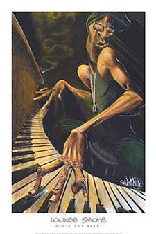 Lounge Smoke (24 x 36) Art Print - David Garibaldi