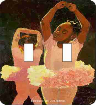 Pink Ballerinas Double Light Switch Cover--Dane Tilghman