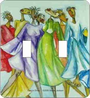 Danc'n Divas Double Light Switch Cover--Malika Jackson