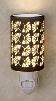 GINKGO LEAF Silhouette Porcelain Night Lights