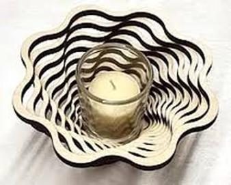 """Spiral 9"""" Votive--Baltic By Design"""