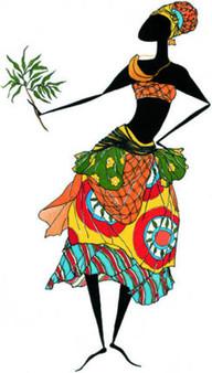 Baga Woman Art print--Augusta Asberry