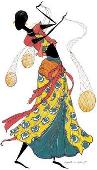 Dancing Gourds Art print--Augusta Asberry