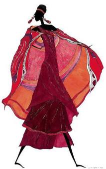 Samburu in Beaded Earrings Art print--Augusta Asberry