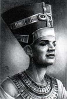 Nefertiti Art Print-- JC Bakari