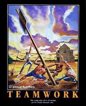 Rising Expectations (Teamwork) Art Print-- Ernie Barnes