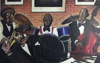 Jazz Cafe Art print--Tracy Andrews