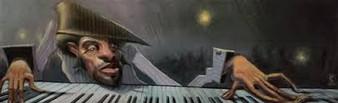 Jazzscape Art Print-- Justin Bua