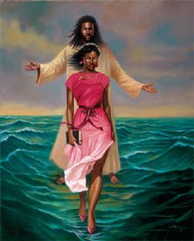 He Walks with Me Art Print (8 x 10in) - Sterling Brown