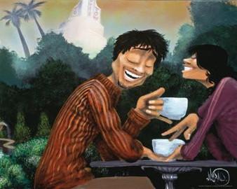 Just Coffee Art Print(16 x 20)-- David Garibaldi