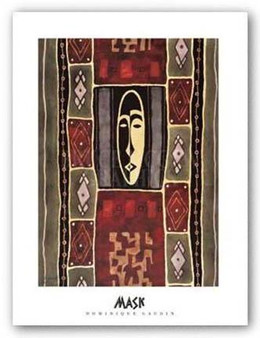 """Mask II"" Art Print--Dominique Gaudin"