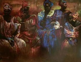 Floral Arragements Of Senegal Art Print - Paul Goodnight