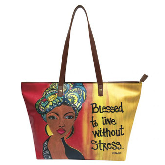 "Blessed To Live Without Stress Handbags--Sylvia""GBaby""Cohen"