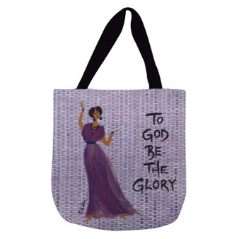 To God Be The Glory Woven Tote Bag--Kerream Jones