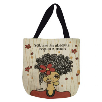 You Are An InspHERation Woven Tote Bags--Kiwi McDowell