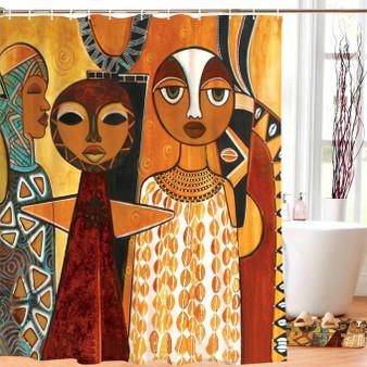 "Windows 2 Africa Designer Shower Curtain --Sylvia ""GBaby"" Cohen"