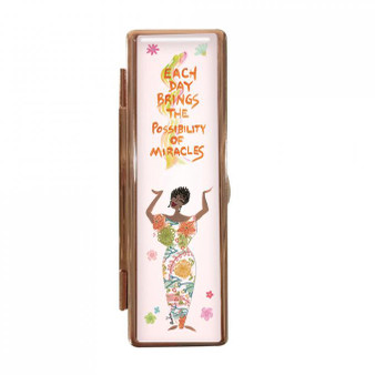 Each Day Brings Miracles Lipstick Mirror Case--Cidne Wallace
