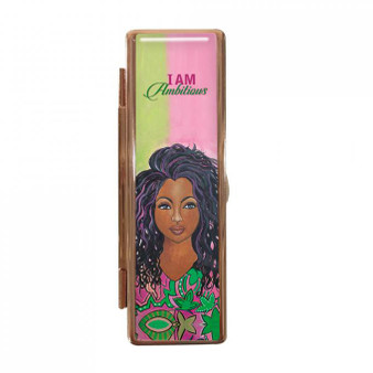 "I Am Ambitious (AKA) Lipstick Mirror Case-- Sylvia ""GBaby"" Cohen"